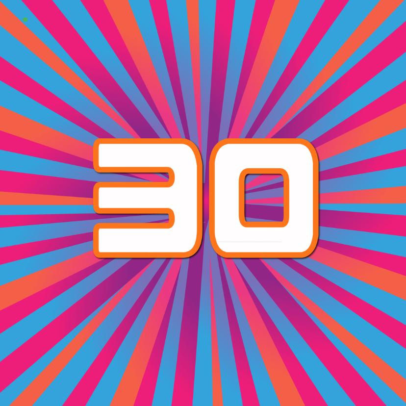Verjaardagskaarten - 30 jaar lineart