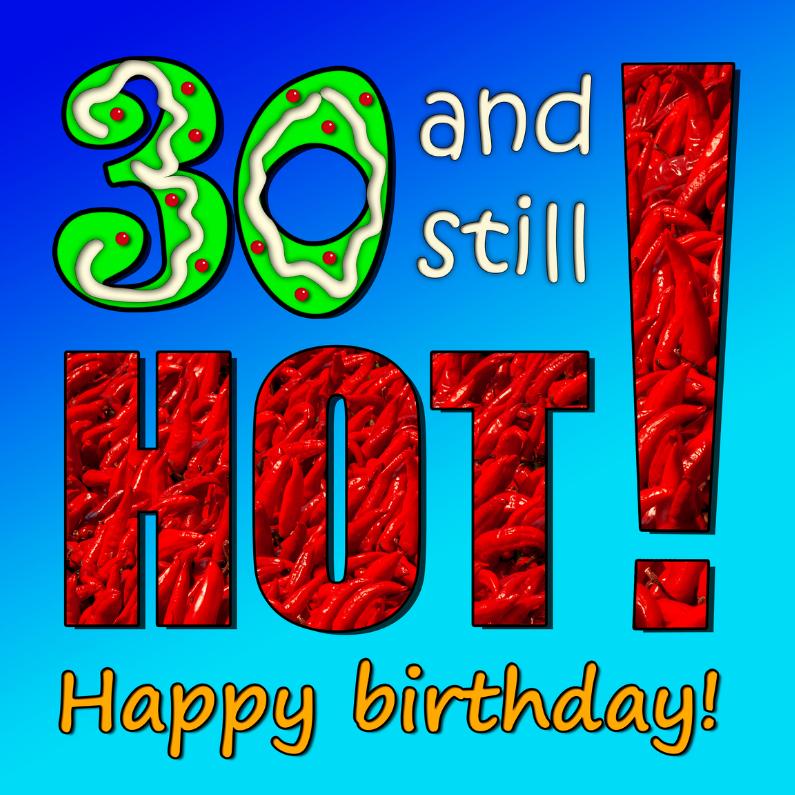 Verjaardagskaarten - 30 jaar, met pepers