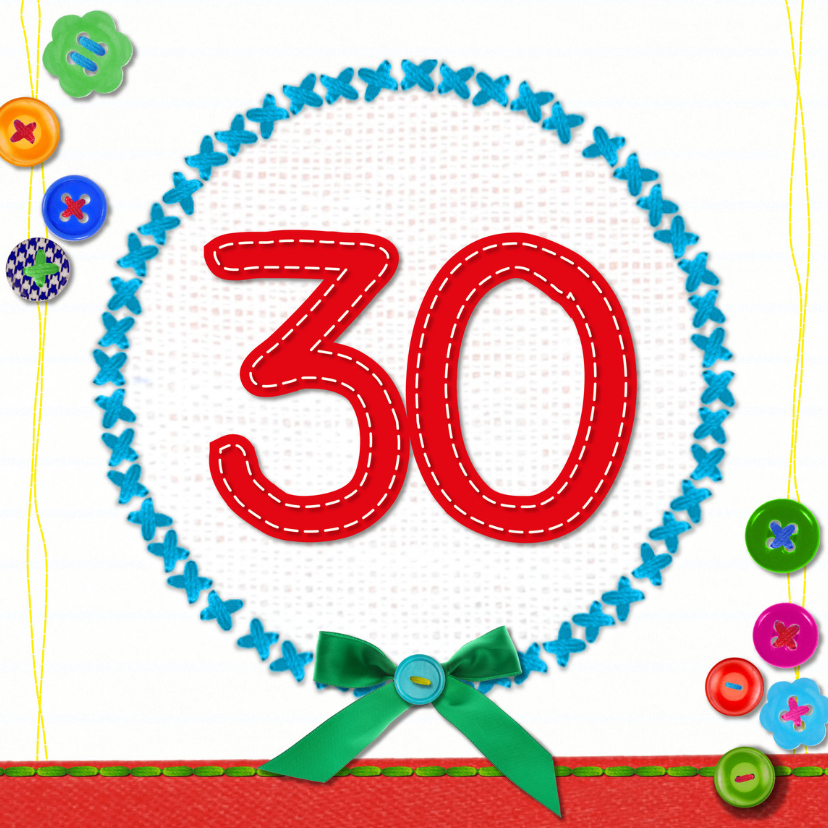 Verjaardagskaarten - 30 jaar verjaardag -BF