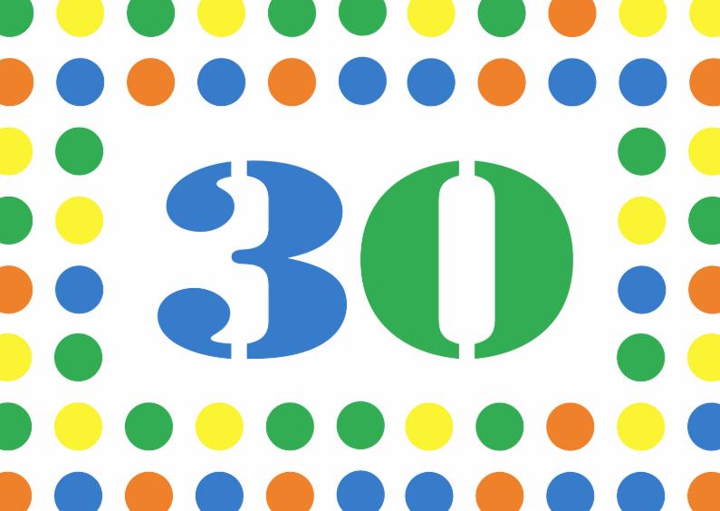 Verjaardagskaarten - 30jaar