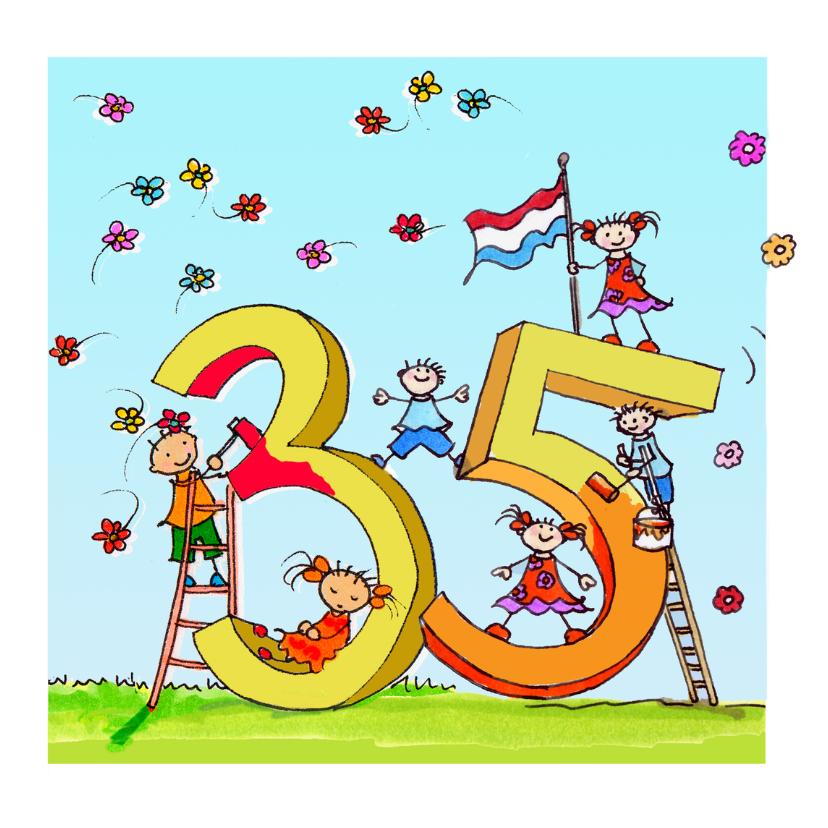 Verjaardagskaarten - 35 jaar anet illustraties