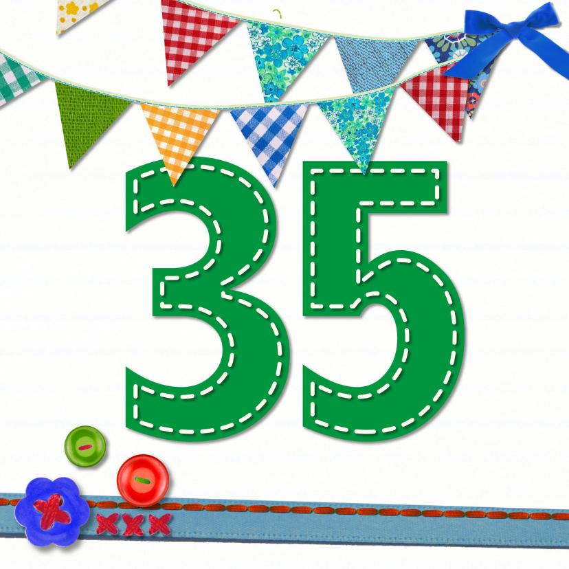 Verjaardagskaarten - 35  jaar verjaardag -BF