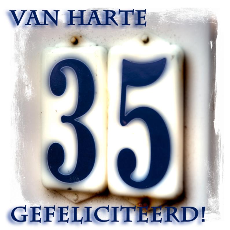 Verjaardagskaarten - 35 jaar