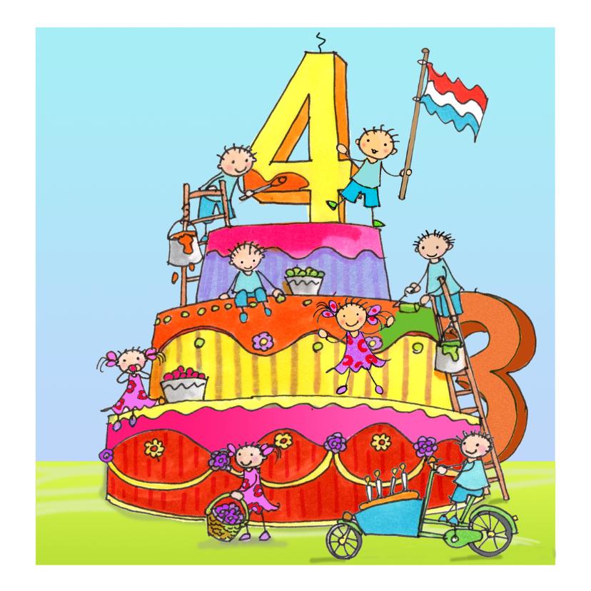Verjaardagskaarten - 4 jaar Anet Illustraties