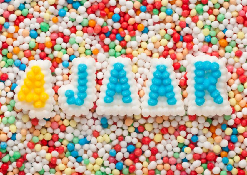Verjaardagskaarten - 4 JAAR van suikerletters
