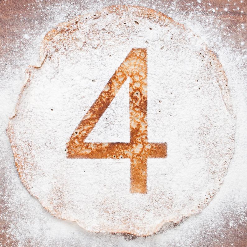 Verjaardagskaarten - 4 op pannenkoek