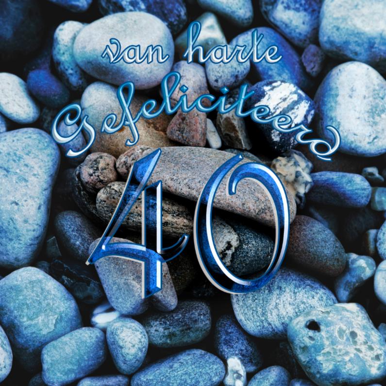 Verjaardagskaarten - 40 blauw feli