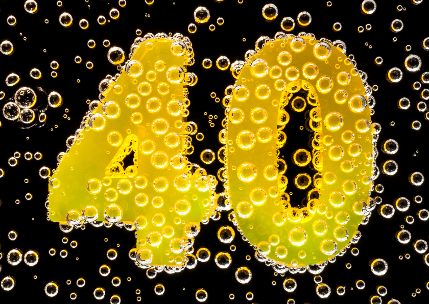 40 in feestelijke champagne 1