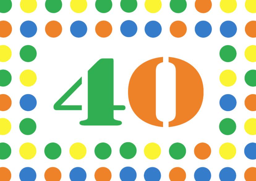 Verjaardagskaarten - 40jaar