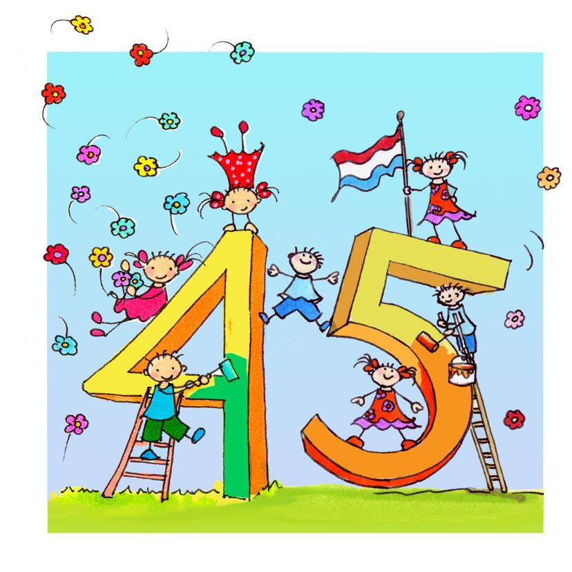 Verjaardagskaarten - 45 jaar Anet Illustraties