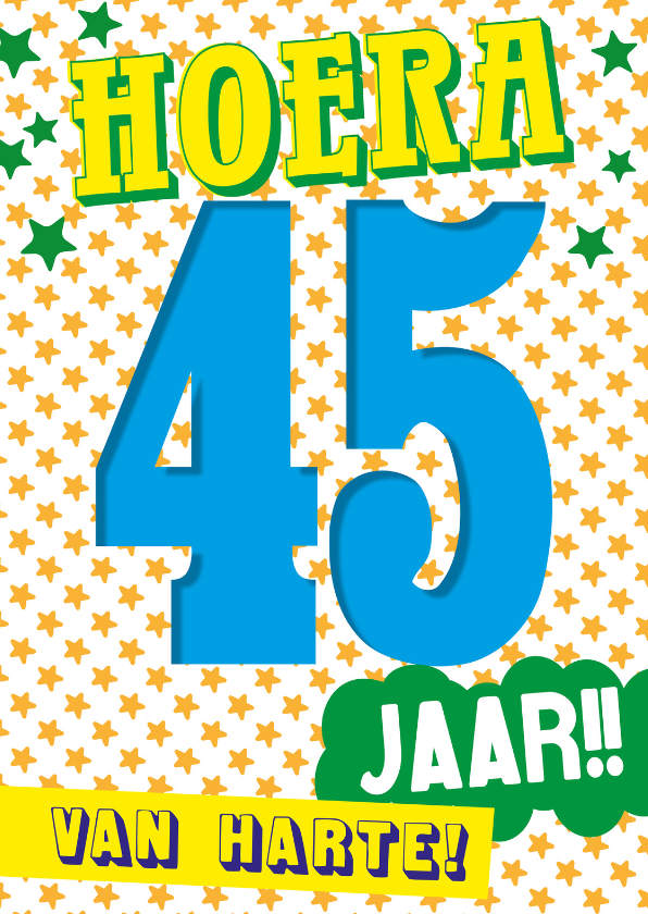 verjaardag man 45