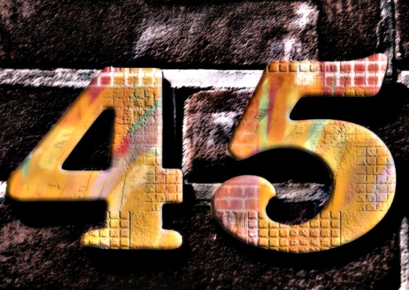 Verjaardagskaarten - 45 jaar4