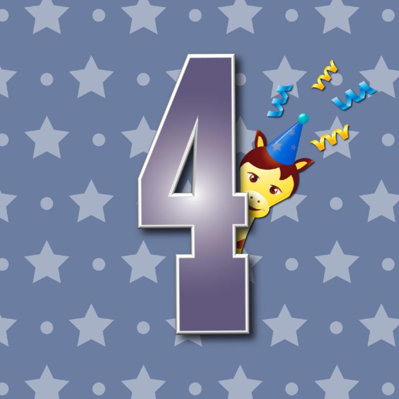 Verjaardagskaarten - 4jaar
