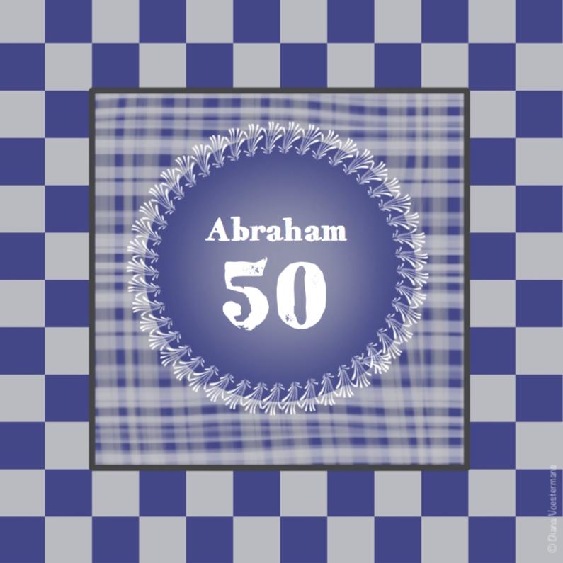 Verjaardagskaarten - 50 Abraham ruitjes