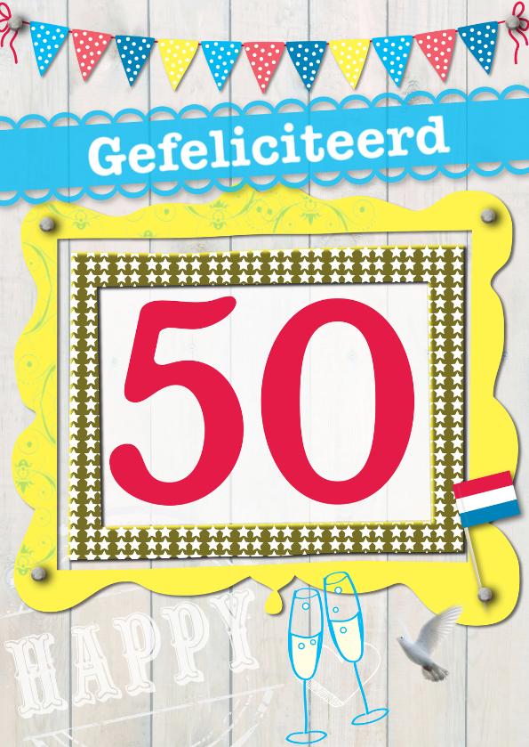 Verjaardagskaarten - 50 gefeliciteerd L06