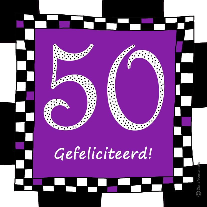 Verjaardagskaarten - 50 gefeliciteerd