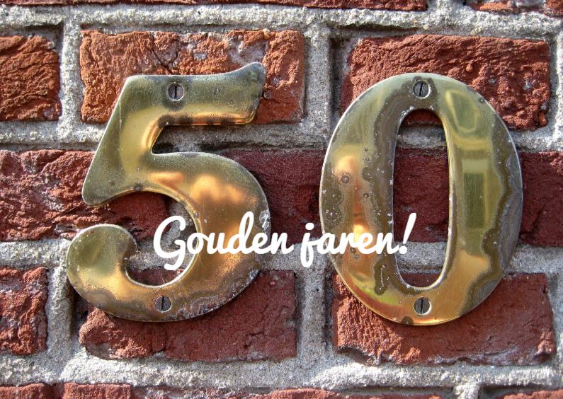Verjaardagskaarten - 50 gouden jaren!