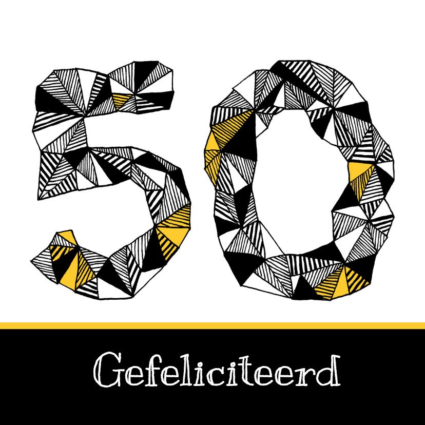 Verjaardagskaarten - 50 jaar in zwartwit cijfers