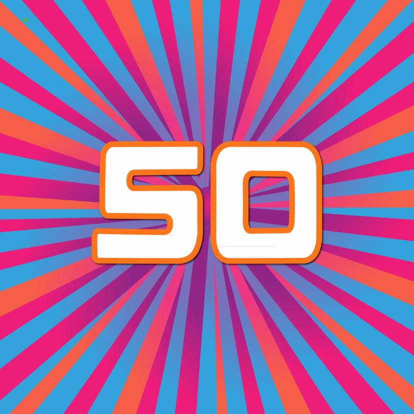 Verjaardagskaarten - 50 jaar lineart