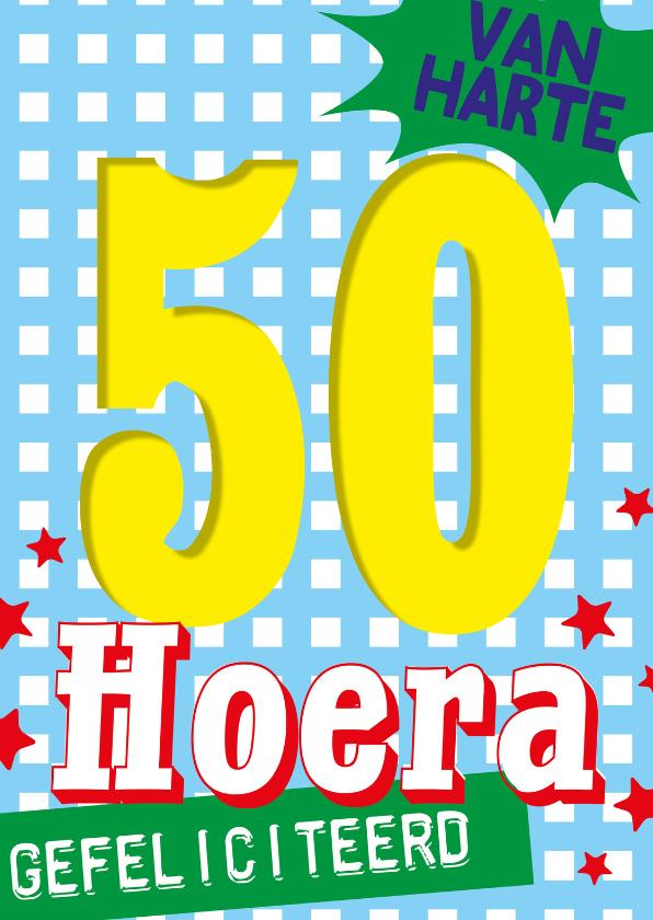 Bekend 50 jaar sarah abraham hoera -BF - Verjaardagskaarten - Kaartje2go FR-54