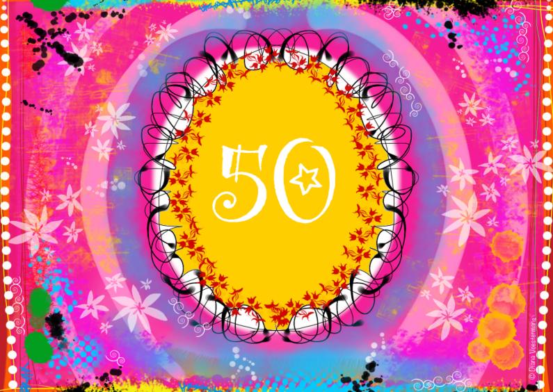 Verjaardagskaarten - 50 jaar Sarah jarig