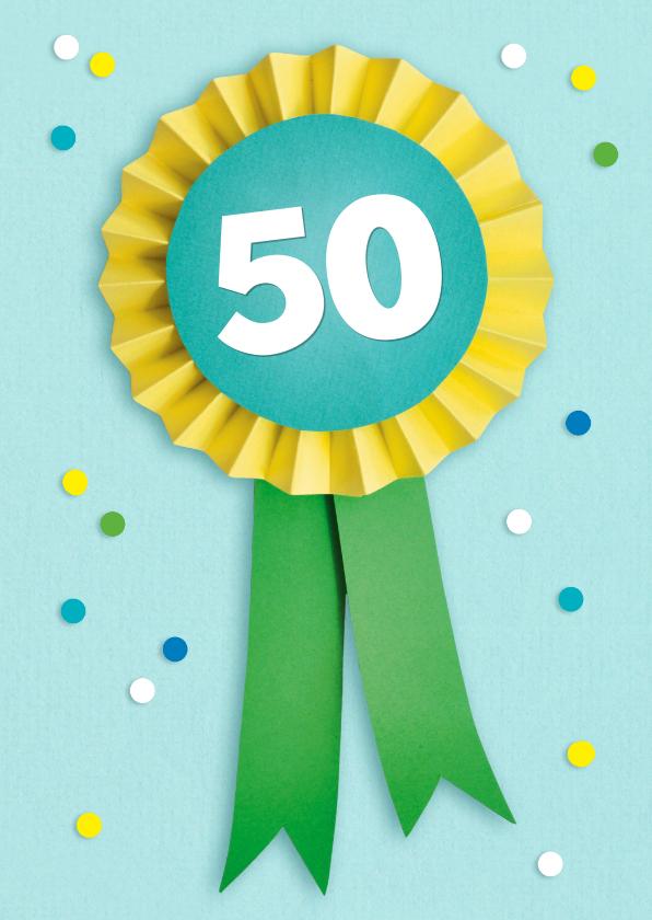 Verjaardagskaarten - 50 jaar vaantje