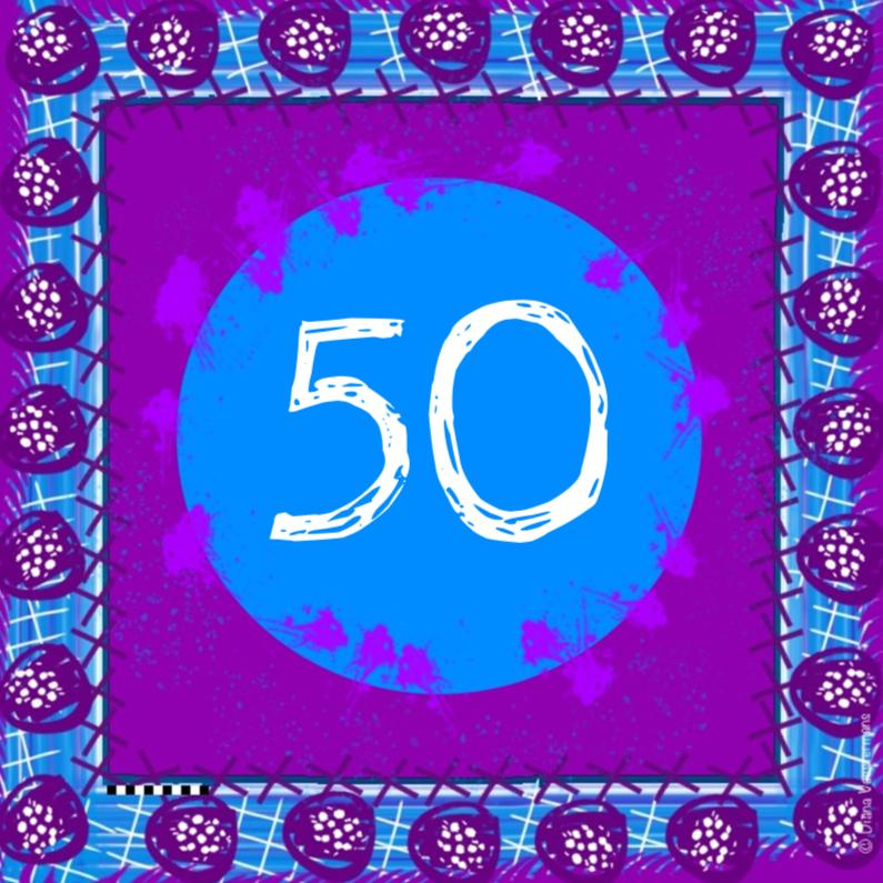 Verjaardagskaarten - 50 kleurrijk