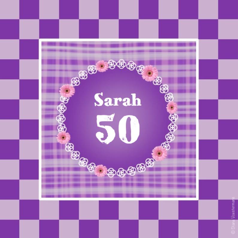 Verjaardagskaarten - 50 Sarah ruitjes