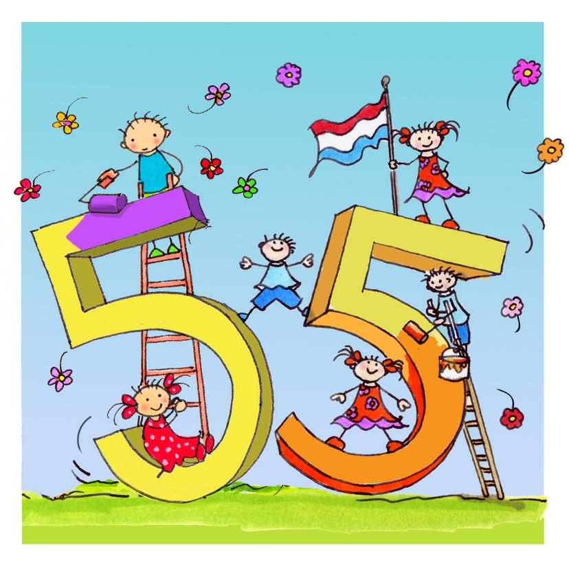 Verjaardagskaarten - 55 jaar Anet Illustraties
