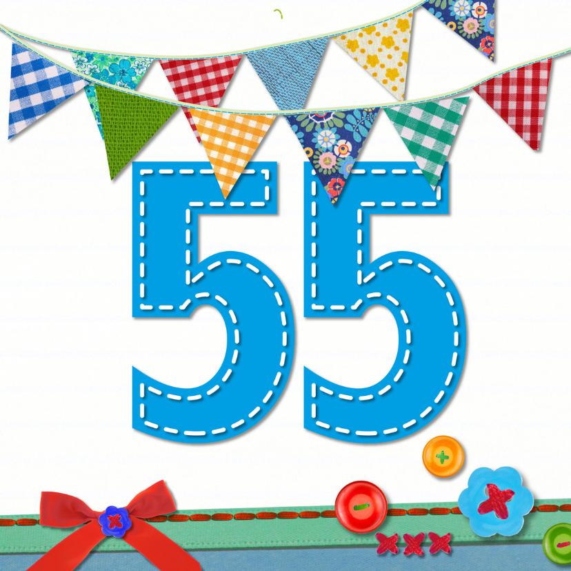 Verjaardagskaarten - 55  jaar verjaardag -BF