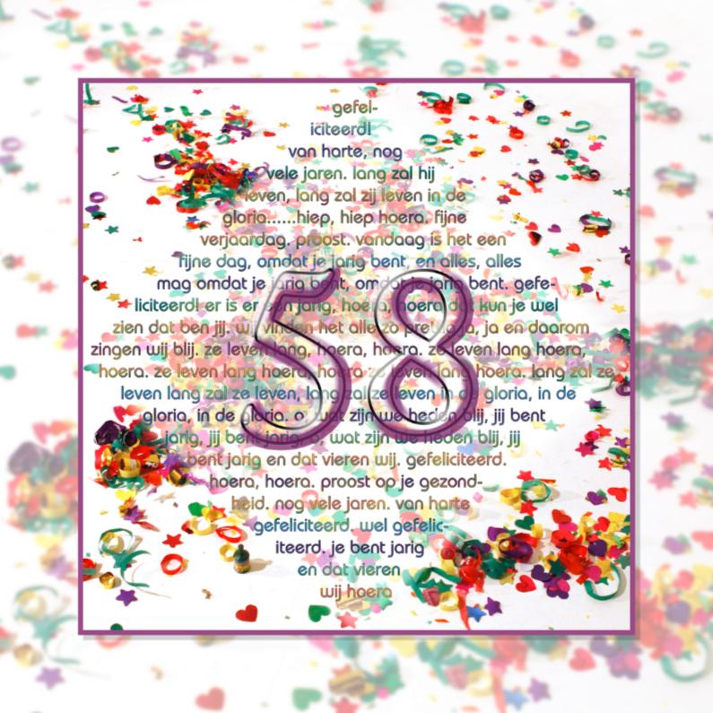 Verjaardagskaarten - 58 txt4