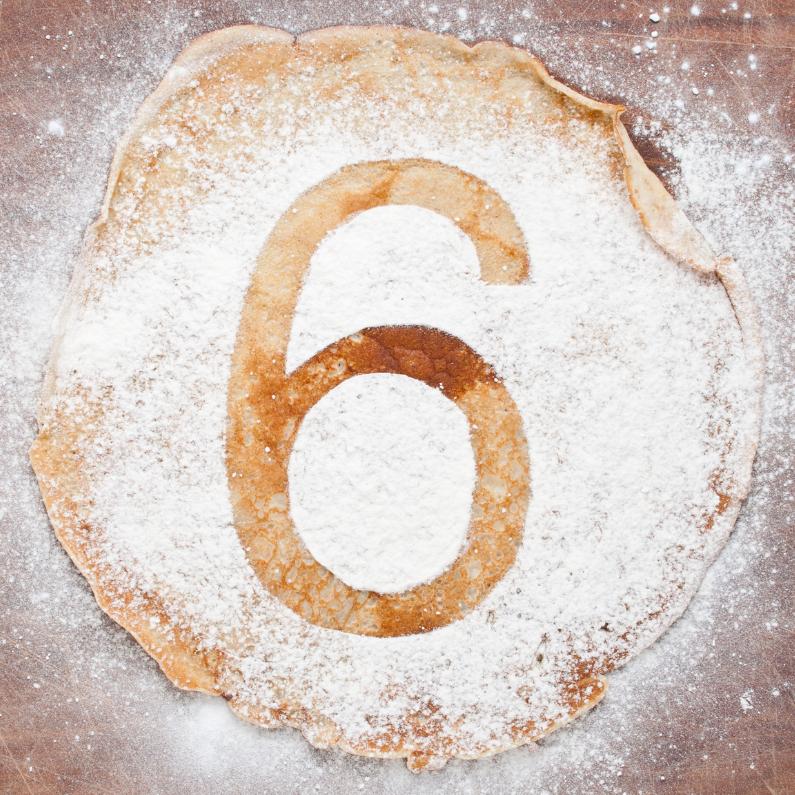 Verjaardagskaarten - 6 op pannenkoek