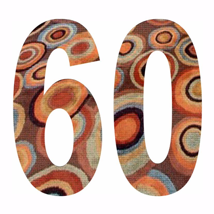 Verjaardagskaarten - 60 Cijfer Mozaïekringen - AW