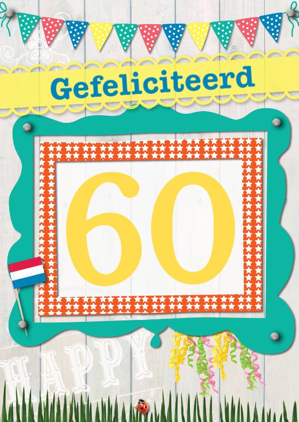 Verjaardagskaarten - 60 gefeliciteerd L07