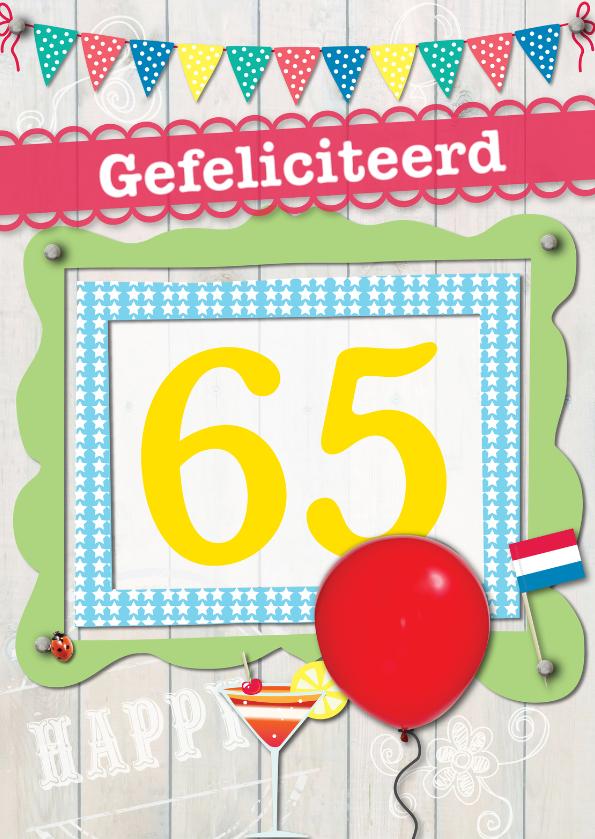 Verjaardagskaarten - 65 gefeliciteerd L08