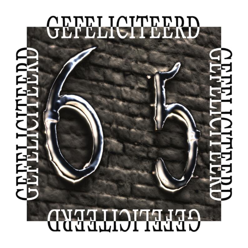 Verjaardagskaarten - 65 gefeliciteerd