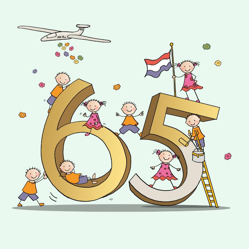 Verjaardagskaarten - 65 jaar Anet Illustraties