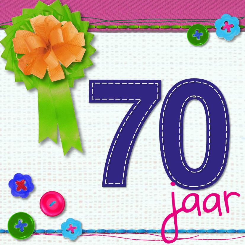 Verjaardagskaarten - 70 zeventig jaar verjaardag -BF