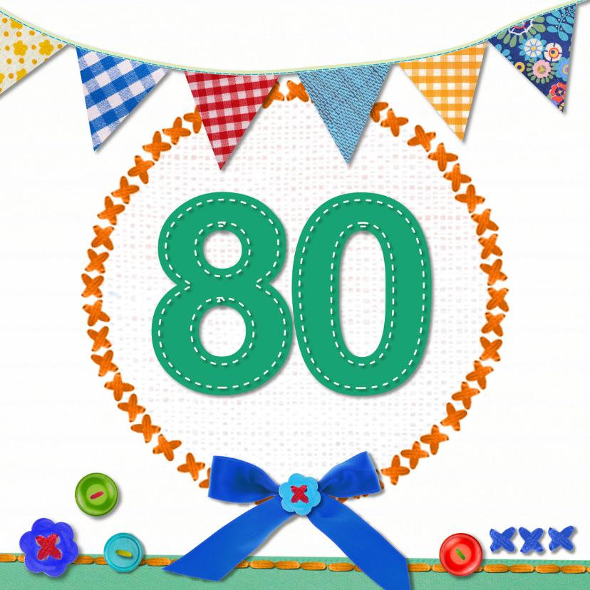 New 80 jaar verjaardag - Verjaardagskaarten | Kaartje2go &UU44