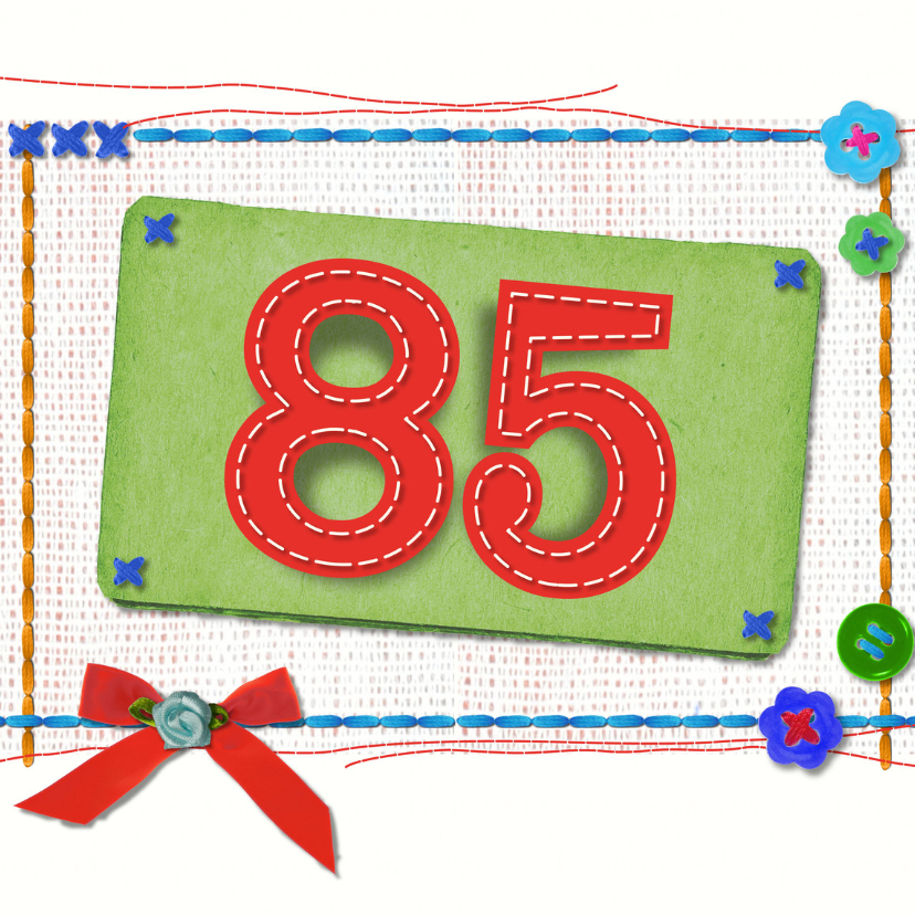 Verjaardagskaarten - 85 jaar verjaardag -BF