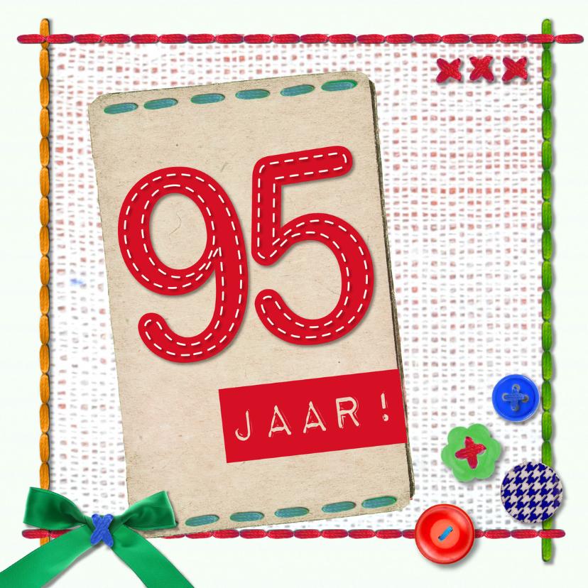 Verjaardagskaarten - 95 jaar gefeliciteerd -BF