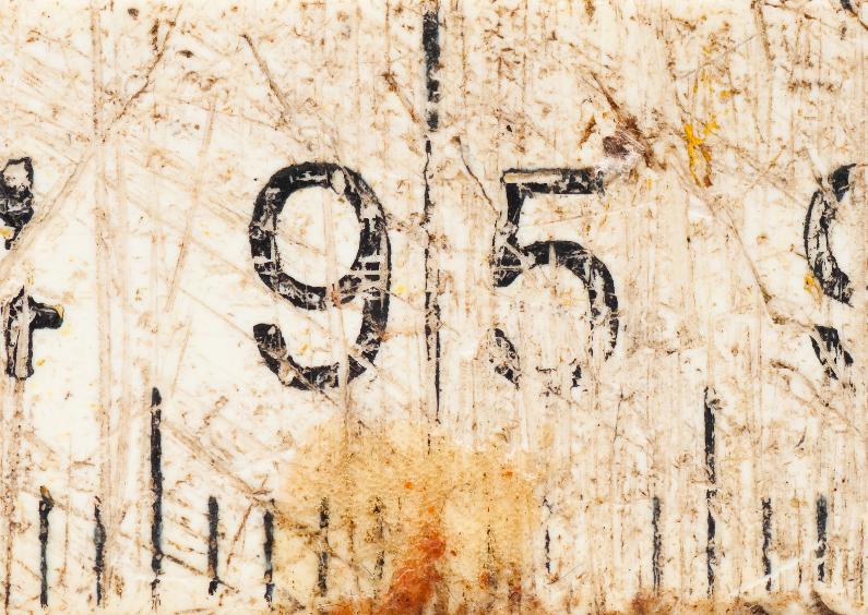 Verjaardagskaarten - 95 op oude witte duimstok