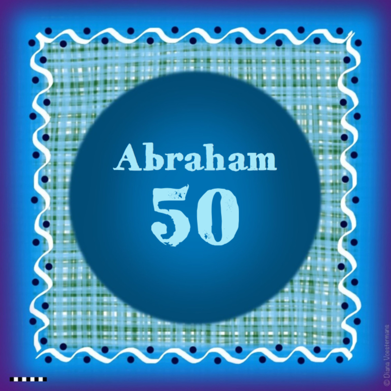 Verjaardagskaarten - Abraham 50 blauw