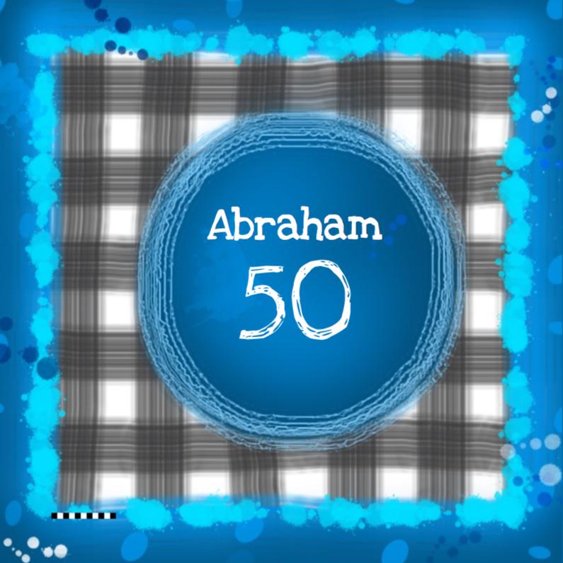 Verjaardagskaarten - Abraham 50 ruitjes
