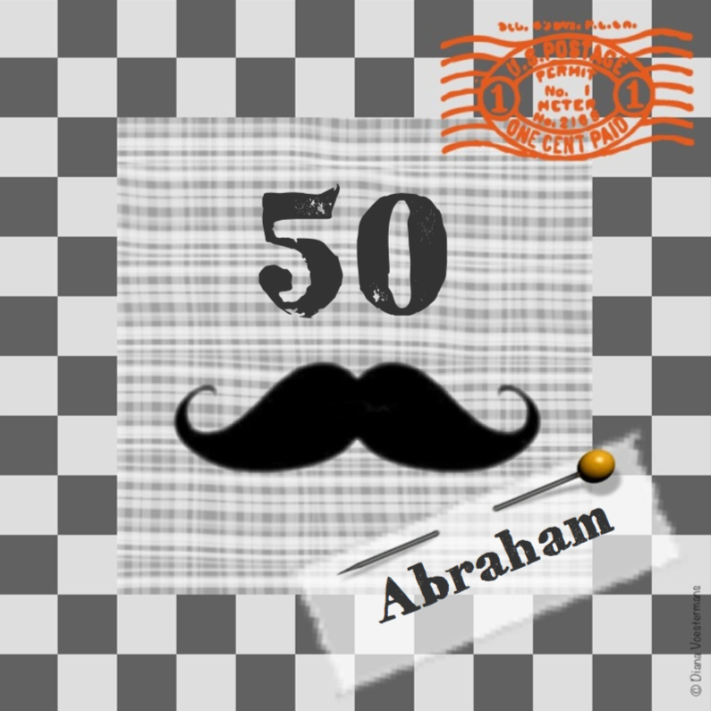 Verjaardagskaarten - Abraham ruitjes