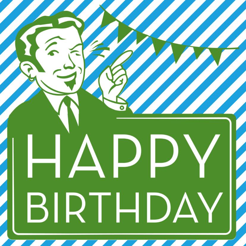 Verjaardagskaarten - Ad Happy Birthday vintage
