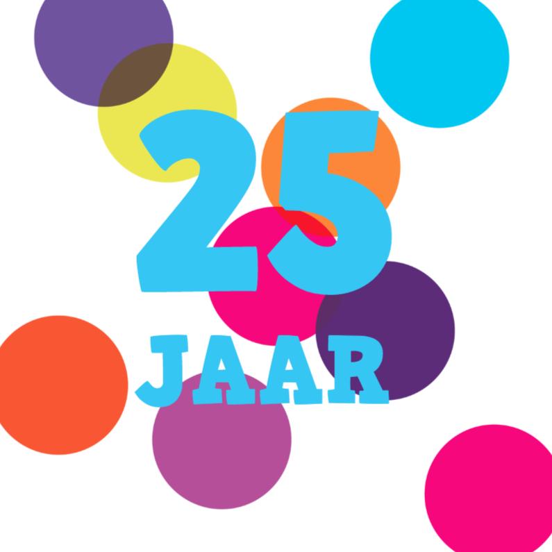 Verjaardagskaarten - Alies Design 25 jaar confetti