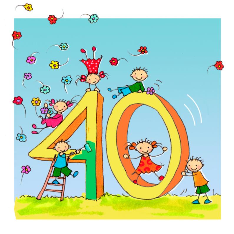 Verjaardagskaarten - Anet Illustraties 40 jaar