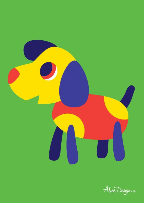 Verjaardagskaarten - ANIMALS-dog