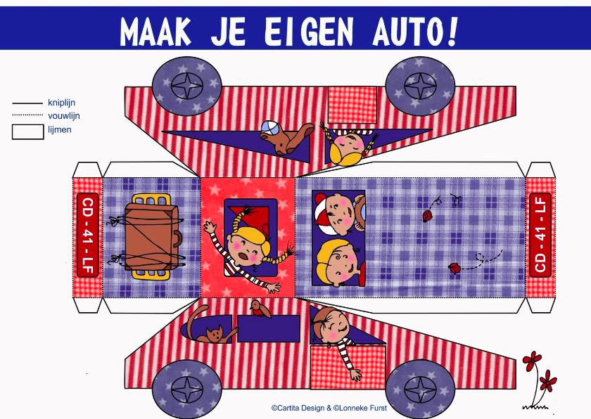 Verjaardagskaarten - Auto maken-kinderkaart- geslaagd